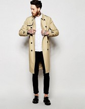 AW18 Men's Water Resistant Trench Coat w/Belt www.asos.com