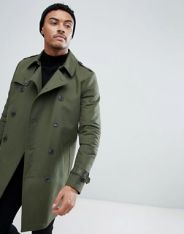 Khaki Water Resistant Trench AW Men's 2018 www.asos.com