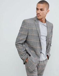 Over Sized Suit jacket in Black check - AW 2018 Men's www.asos.ca