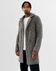 AW 2018 Men's Duster Grey Heavy Sweater Jacket www.asos.ca