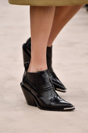 Paco Rabanne Capped Toe Western Ankle Boot F/W 18 pic: Peter White GettyImages: www.glamourmagazine.com