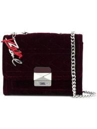 Karl Lagerfeld Karl X kaia Velvet handbag Fall 18 www.farfetch.com