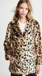 Velvet Julianna Faux Fur Leopard Coat FW 2018-19 www.shopbop.com