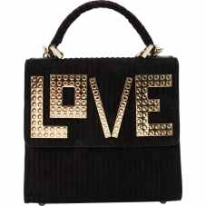 Black w/ Gold plated lettering Velvet Purse www.vestiarirecollective.com pic: www.shopstyle.com