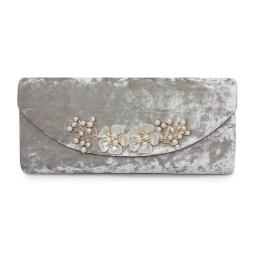 Lunar Ginny Crushed Velvet Clutch Fall 2018 www.frugo.ca