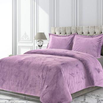 Lilac Velvet Oversized Duvet Set Tribeca Living www.amazon.ca