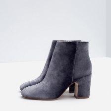 zara ankle round toe velvet boots