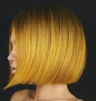 Mustard Yellow blunt cut - www.allure.com