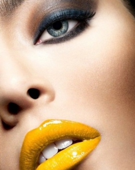 Mustard yellow trending lip color SS19...Pinterest