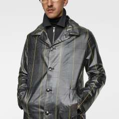 Men's Check Print trench coat www Zara.com