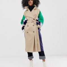 Quilted Shell Trench Coat ASOS WHITE www.asos.com